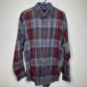 GANT Flannel Button Down Shirt Size Medium